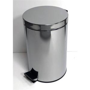 ゴミ箱 フタ付き ペダル式 ステンレスペール YA-002  12Lの商品画像|ナビ