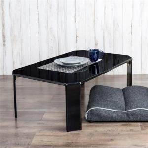 [幅90cm] テーブル ローテーブル 折りたたみ収納 UV塗装 ルーチェ ブラック 送料無料