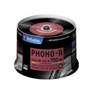 三菱ケミカルメディア SR80PH50V1 データ用CD-R 700MB 50枚48倍速 PHONO-R|yamada-denki