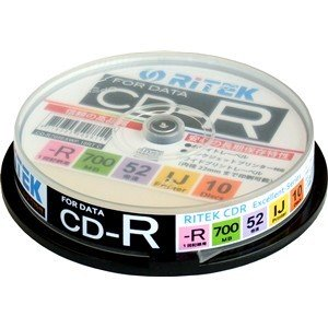 RiTEK CD-R700EXWP.10RTC データ用CD-R 10枚<br>120