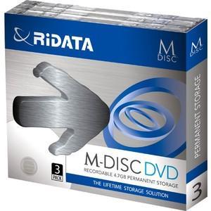 RiDATA M-DVD4.7GB.PW3P M-DISC DVD 4.7GB 4倍速 3枚パック&...