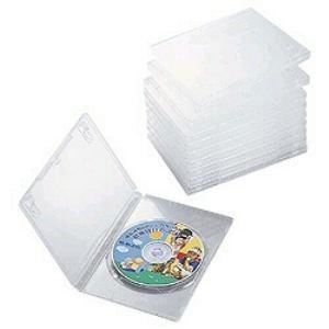 CCD-DVD03CR DVDトールケース(1枚組収納×10枚セット・クリア)|yamada-denki