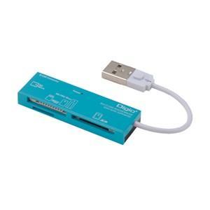 ナカバヤシ CRW-5M52NBL USB2.0マルチカードリーダー/ライター ブルー|yamada-denki