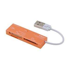 ナカバヤシ CRW-5M52NDD USB2.0マルチカードリーダー/ライター オレンジ|yamada-denki