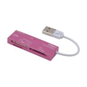 ナカバヤシ CRW-5M52NP USB2.0マルチカードリーダー/ライター ピンク|yamada-denki