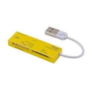 ナカバヤシ CRW-5M52NY USB2.0マルチカードリーダー/ライター イエロー|yamada-denki