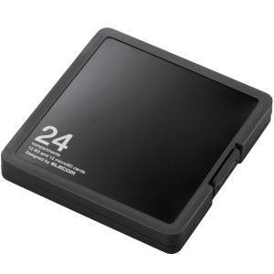 エレコム CMC-SDCPP24BK SD/microSDカードケース プラスチックタイプ ( SD:12枚 / microSD:12枚収納可能 ) ブラック yamada-denki