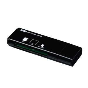 ナカバヤシ CRW-3M59BK USB2.0マルチカードリーダー/ライター (ブラック)|yamada-denki