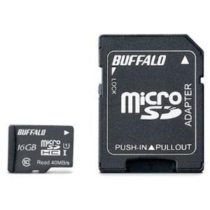 バッファロー RMSDY016U1SA UHS-I Class1 microSDカード SD変換アダプター付 16GB|yamada-denki
