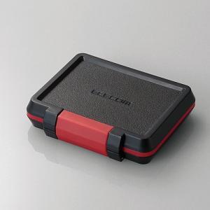 エレコム CMC-SDCHD02BK SD/microSD/XQDカードケース(耐衝撃) ブラック yamada-denki