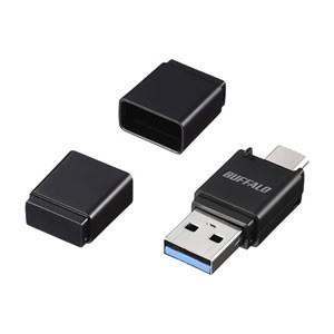 バッファロー BSCRM120U3BK USB3.0 Type-A/ USB3.1 Gen1 Type-C対応 microSD専用カードリーダー/ ライター(ブラック) yamada-denki