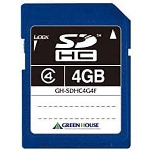 グリーンハウス GH-SDHC4G4F(SDHCカード 4GB Class4)|yamada-denki