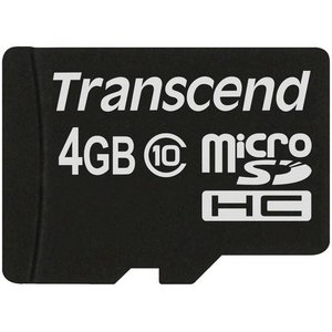 トランセンド・ジャパン microSDHCカード 4GB TS4GUSDC10 TS4GUSDC10|yamada-denki