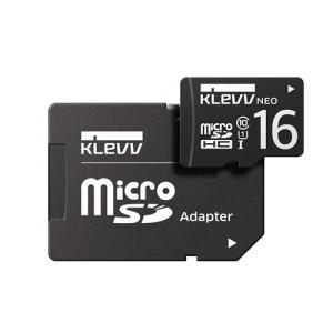 ESSENCORE DRK016GUSD3U1NAY microSDHCカード UHS-I Class10  SD変換アダプタ付属 KLEVV NEO 16GB ブラック|yamada-denki