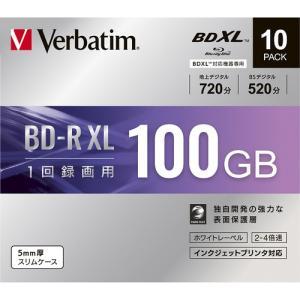 三菱ケミカルメディア VBR520YP10D1 録画用BD-RXL(片面3層)インクジェットプリンタ対応ワイドレーベル ケース付き10枚パック yamada-denki
