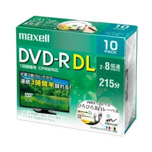 マクセル DRD215WPE10S 8倍速対応DVD-R DL 215分 10枚パック<br&...
