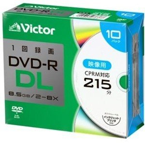 Victor(ビクター) VHR21HP10J2 一回録画用 DVD-R DL 8倍速 プリンタ対応...