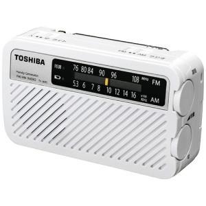 東芝 TY-JKR5-W 手回し充電ワイドFMラジオ ホワイト<br>022