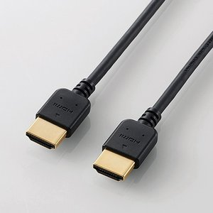 エレコム DH-HD14EY15BK HIGH SPEED HDMIケーブル(やわらか) 1.5m ブラック|yamada-denki
