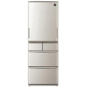 【無料長期保証】シャープ SJ-W412D-S プラズマクラスター搭載 5ドア冷蔵庫(412L・どっちもドア) シルバー系|yamada-denki