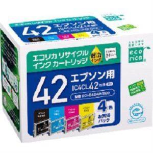 エコリカ ECI-E424P/BOX エプソン IC4CL42 互換リサイクルインクカートリッジ 4...