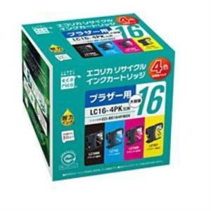 エコリカ ECI-BR164P/BOX ブラザー LC16-4PK対応 リサイクルインクカートリッジ...