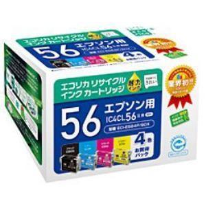 エコリカ ECI-E564P/BOX エプソン IC4CL56対応 リサイクルインクカートリッジ 4...