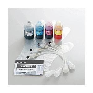 【詰替】[ブラザー:LC12BK、LC12C、LC12M、LC12Y(4色)対応]  つめかえインク...