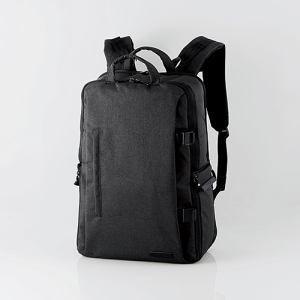 エレコム DGB-S037BK 2STYLEカメラバックパック(ハイグレード・Lサイズ) ブラック&...