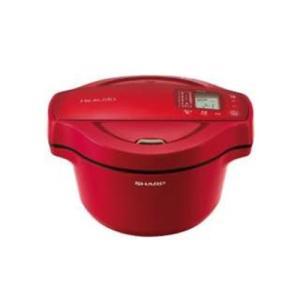 シャープ KN-HT16E-R 水なし自動調理鍋 「ヘルシオ ホットクック」(1.6L) レッド系&...