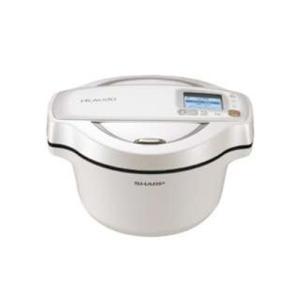 シャープ KN-HW16E-W 水なし自動調理鍋 「ヘルシオ ホットクック」(1.6L) ホワイト系...