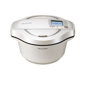 シャープ KN-HW24E-W 水なし自動調理鍋 「ヘルシオ ホットクック」(2.4L) ホワイト系...