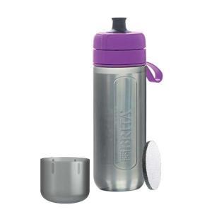 ブリタ BJGAPUZ 浄水機能付き携帯ボトル 「fill&&go Active(フィルアンドゴー アクティブ)」 パープル|yamada-denki