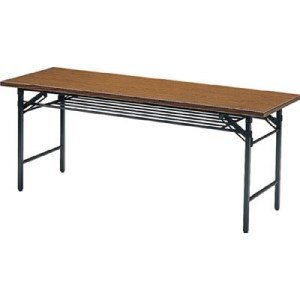 TRUSCO 折りたたみ会議テーブル 1800X450XH700 チーク|yamada-denki