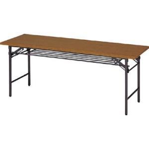 TRUSCO 折りたたみ会議テーブル 1800X600XH700 チーク|yamada-denki