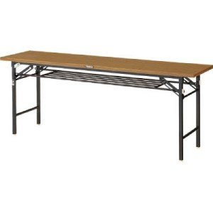 TRUSCO 折りたたみ会議テーブル 1800X450 安全ストッパー付|yamada-denki