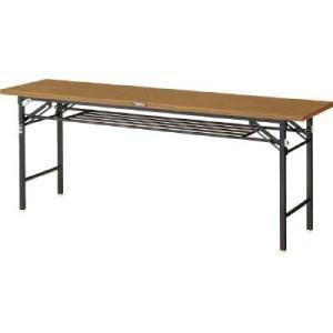 TRUSCO 折りたたみ会議テーブル 1800X600 安全ストッパー付|yamada-denki