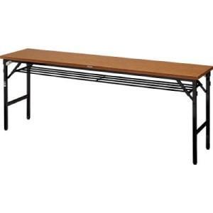 TRUSCO 折畳会議テーブル ワイドクランク 1800X600 ストッパー付|yamada-denki