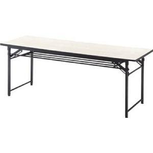 TRUSCO 折りたたみ会議テーブル 1800X450XH700 アイボリー|yamada-denki