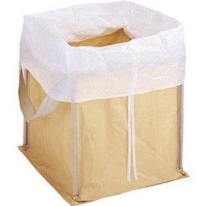 TRUSCO 回収袋 自立型タイプ 450L 白カバー付|yamada-denki