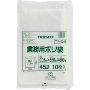 TRUSCO 業務用ポリ袋 厚み0.05X45L 10枚入|yamada-denki