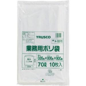 TRUSCO 業務用ポリ袋 厚み0.05X70L 10枚入|yamada-denki
