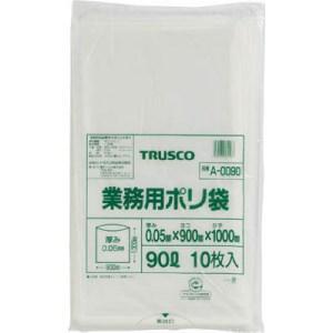 TRUSCO 業務用ポリ袋 厚み0.05X90L 10枚入|yamada-denki