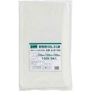 TRUSCO 業務用ポリ袋 厚み0.05X150L 5枚入|yamada-denki