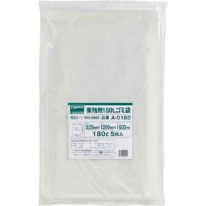 TRUSCO 業務用ポリ袋 厚み0.05X180L 5枚入|yamada-denki