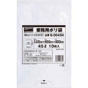 TRUSCO 業務用ポリ袋0.035X45L(透明)|yamada-denki