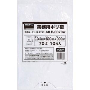TRUSCO 業務用ポリ袋0.045X70L(半透明)|yamada-denki