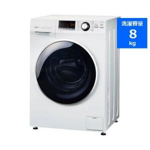 【無料長期保証】AQUA AQW-FV800E(W) ドラム式洗濯機 (8kg・左開き) ホワイトの画像