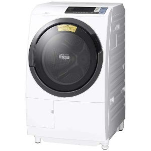 日立 BDSG100BL-W ドラム式洗濯乾燥機 (洗濯10.0kg/乾燥6.0kg・左開き) 「ヒートリサイクル 風アイロン ビッグドラム」 ホワイト yamada-denki