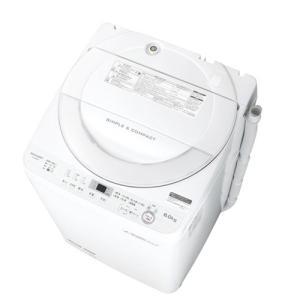 シャープ ES-GE6B-W 全自動洗濯機 (洗濯6.0kg) ホワイト系|yamada-denki